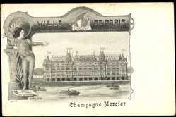 Künstler Ak Orlow, Paris, Campagne Mercier, bateaux, Seine