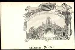 Künstler Ak Orlow, Champagne Mercier, Palais d'Electricité, Château d'Eau