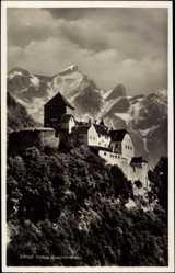 Postcard Vaduz Liechtenstein, Blick auf das Schloss Vaduz