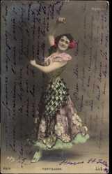 Postcard Tänzerin Tortojada, Tanzkostüm, Spanische Tracht, Rock