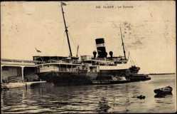 Postcard Alger Algier Algerien, Compagnie de Navigation Mixte, Paquebot Djémila