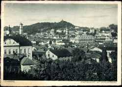 Postcard Lwów Lemberg Ukraine, Stadtansicht mit Schlossberg