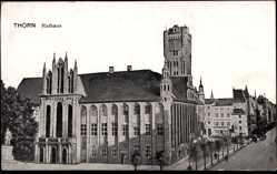 Ak Toruń Thorn Westpreußen, Blick auf das Rathaus