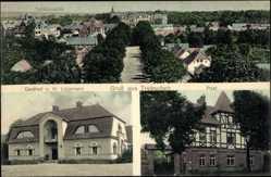 Ak Trzebiechów Trebschen Ostbrandenburg, Totale, Gasthof Lippmann, Postamt