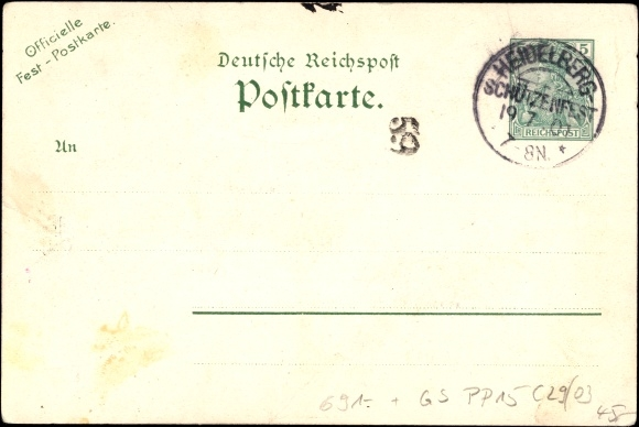 Historische Postkarten Und Porto Akpoolde