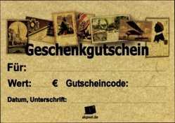 50€ Geschenkgutschein für Ansichtskarten, Old Fashion