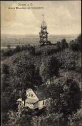 Ak Krosno Odrzańskie Crossen Oder Ostbrandenburg, Gelke's Weinschank, Turm