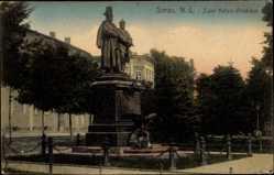 Ak Żary Sorau Niederlausitz Ostbrandenburg, Zwei Kaiser Denkmal