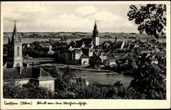 Ak Krosno Odrzańskie Crossen Oder Ostbrandenburg, Blick von der Wilhelmshöhe