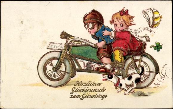 Ansichtskarte Postkarte Gl 252 Ckwunsch Geburtstag Zwei