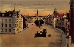 Postcard Pfaffenhofen Ilm, Blick auf den Hauptplatz mit Kriegerdenkmal