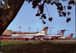 Postcard Berlin Schönefeld, Zentralflughafen, BER, Aeroflot, Interflug