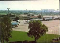 Postcard Berlin Schönefeld, Zentralflughafen, Passagierflugzeuge