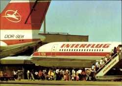 Postcard Berlin Schönefeld, Zentralflughafen, Interflug Maschinen