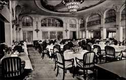 Postcard Dampfschiff New York der HAPAG, Speisesaal 1 Klasse