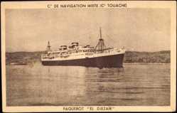 Postcard Compagnie de Navigation Mixte, Cie Touache, Paquebot El Djezair