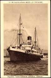 Postcard Compagnie de Navigation Mixte, Paquebot Gouverneur Général Tirman