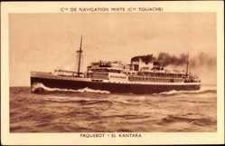 Postcard Compagnie de Navigation Mixte, Paquebot El Kantara