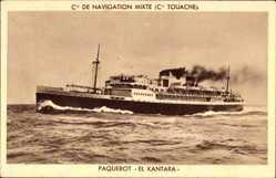 Postcard Paquebot El Kantara, Dampfschiff. Compagnie de Navigation Mixte