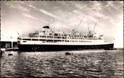 Postcard Alger, Paquebot El Djezair, Dampfschiff, Compagnie de Navigation Mixte