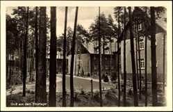 Ak Tiborlager bei Schwiebus Ostbrandenburg, Kasernen am See