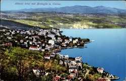 Postcard Abbazia Kroatien, Totalansicht mit Mattuglie und Castua