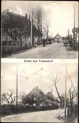 Postcard Todendorf Schleswig Holstein, Straßenpartien mit Häusern