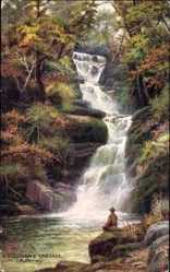 Künstler Ak Killarney Irland, O' Sullivan's Cascade, Wasserfall, Tuck 7283