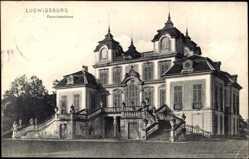 Postcard Ludwigsburg in Baden Württemberg, Blick auf das Favoriteschloß