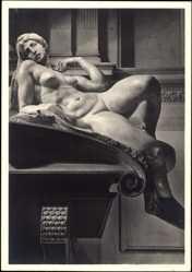 Ak Michelangelo, Sein Leben und sein Wert, Morgenröte, Frauenakt