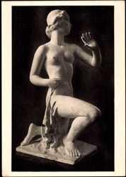 Ak Plastik von Alfred Thiele, Der Morgen, Museum der bildenden Künste