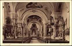 Postcard Ensdorf in der Oberpfalz, Noviziat der Salesianer, Pfarrkirche, Innen