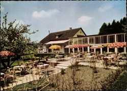 Postcard Fornsbach Murrhardt, Haus Erdbeer Kalang, Gartenansicht