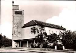 Postcard Herrenberg Kreis Böblingen, Stadtpfarrkirche St. Josef von außen gesehen