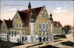 Ak Poznań Posen, Ansicht der königlichen Akademie