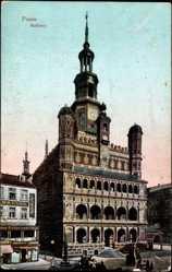 Ak Poznań Posen, Ansicht vom Rathaus, Ratusz, Geschäft Krause