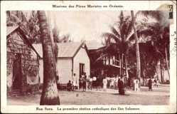 Ansichtskarte / Postkarte Rua Sura Salomonen, La première station catholique, Missions Maristes