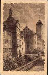Künstler Ak Gerling, W., Bad Mergentheim in Tauberfranken, Schlossansicht