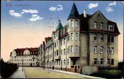 Postcard Riesa an der Elbe Sachsen, Gebäude in der Sedanstraße