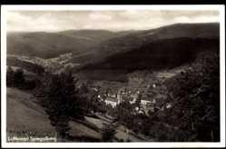 Postcard Spiegelberg Baden Württ., Luftkurort, Talansicht, Stadtpanorama, Glockenturm