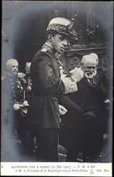 Postcard Paris, King of Spain Alphonse XIII, Notre Dame