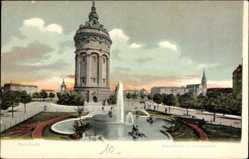 Postcard Mannheim in Baden Württemberg, Vorderansicht vom Wasserturm