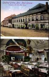 Postcard Gröba Riesa an der Elbe Sachsen, Gasthof Gröba, Paul Grosse, Innenansicht