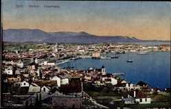 Postcard Split Kroatien, Spalato, Panoramablick auf die Küste und die Umgebung
