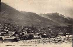 Postcard Monastir Bitola Mazedonien, Ort mit umliegender Landschaft, Gebirge