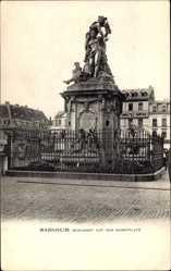 Postcard Mannheim in Baden Württemberg, Monument auf dem Marktplatz