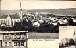 Postcard Niedaltdorf Rehlingen Siersburg, Ortsansicht, Joseph Schue Buchholz