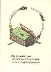 Künstler Ak Gampp, Josua Leander, Die Erinnerung ist der Nachsommer der..