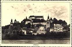 Künstler Ak Ptuj Pettau Slowenien, Totalansicht, Burg
