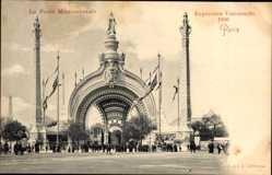 Cp Paris, Expo, Weltausstellung 1900, Porte Monumentale